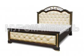 Односпальная кровать Амелия с мягкой вставкой