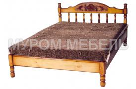 Кровать-тахта Точенка Глория (резьба шапкой) тахта