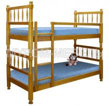 Детская кровать двухъярусная Детская точеная