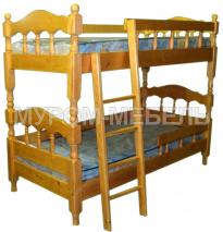 Детская кровать двухъярусная точеная