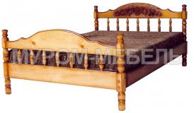 Кровать Точенка Глория (резьба шапкой)